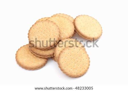 Sweets photographed in studio on white isolated background