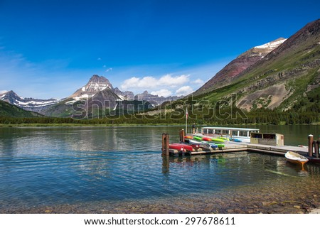Swiftcurrent Lake in Glacier National Park, Montana