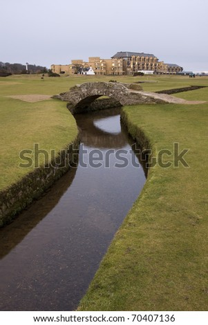 Swilcan Bridge, Old Course, St Andrews - stock photo