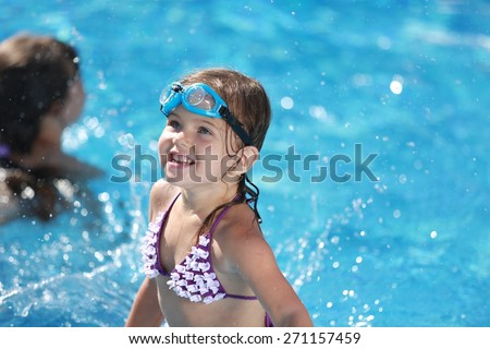 Swim, pool, kid. - stock photo