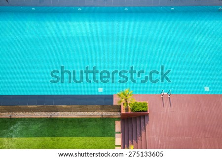 Swiming Pool in The Garden, Thailand. - stock photo