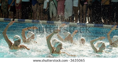 swimmers - stock photo