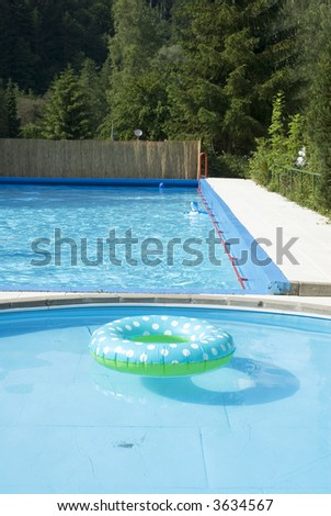 swimming-belt in a swimming-pool for little children