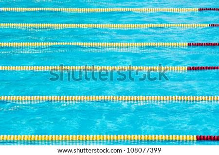 Swimming competition at the Championships - stock photo