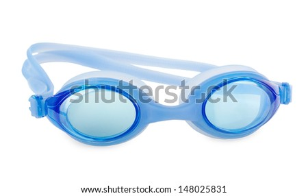 Swimming glasses on a white background