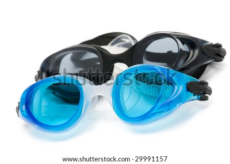 Swimming goggles isolated on the white background
