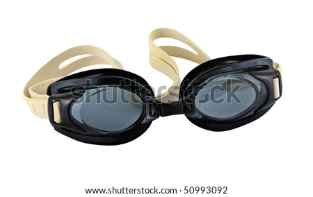 Swimming goggles isolated on white. Includes an accurate clipping path.