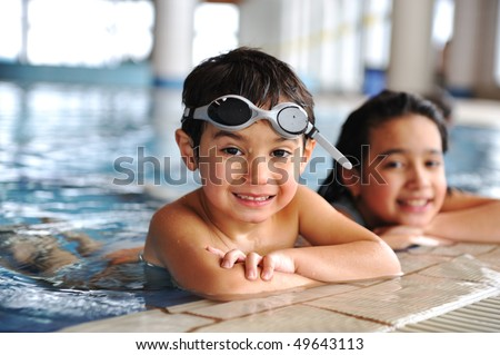 swimming kid - stock photo