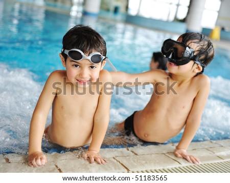 swimming kid - stock photo