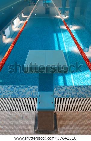 Swimming Lane and Start Place - stock photo