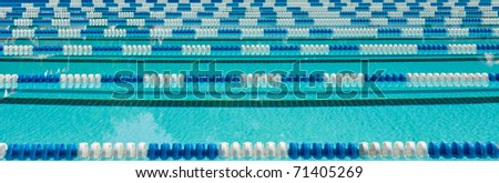 Swimming Lane Markers - stock photo