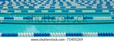 Swimming Lane Markers - stock photo