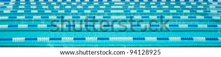 Swimming Lane Markers border - stock photo