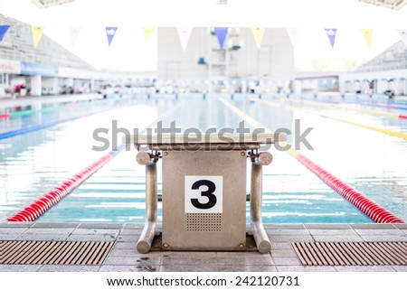 Swimming lens line. - stock photo
