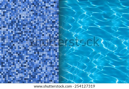 Swimming pool and tile ideal for backgrounds - stock photo