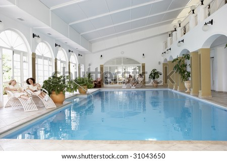Swimming Pool At Spa