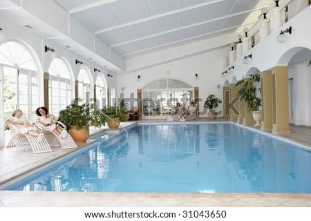 Swimming Pool At Spa - stock photo