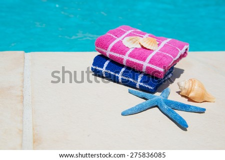 Swimming pool at the hotel of camping - stock photo
