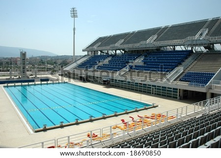 Swimming Pool at the Olympic Stadium in Athens (Greece)