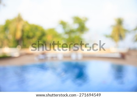 Swimming pool,blurred filter effect - stock photo