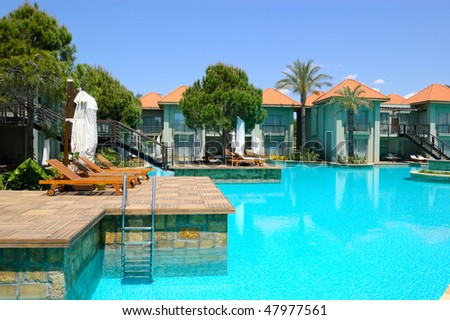 Swimming pool by VIP villas, Antalya, Turkey