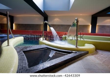 swimming pool detail - stock photo