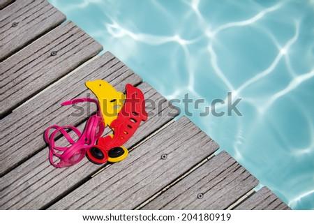 Swimming pool equipment summer concept - stock photo