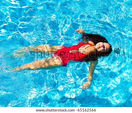 Swimming Pool Female - stock photo