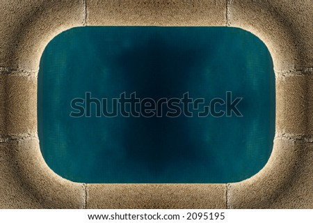 Swimming Pool frame - copy space, high resolution, multiple posibilities. - stock photo
