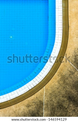 swimming pool from top view - stock photo