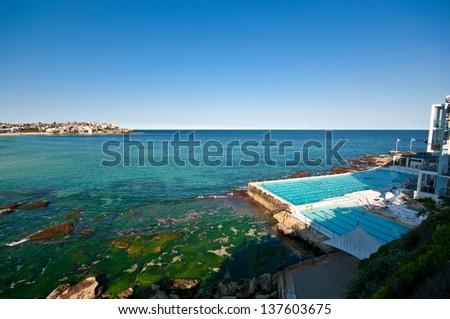 Swimming pool in Bondi Beach. Sydney, NSW, Australia - stock photo