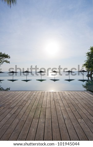 Swimming pool in Hua Hin, Thailand