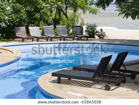 Swimming pool in spa resort
