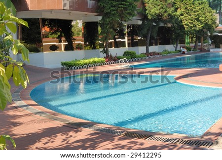 Swimming pool in the garden.