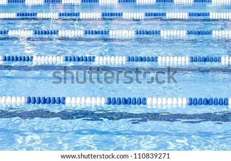 Swimming Pool Lanes - stock photo
