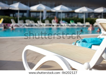 swimming pool lounger