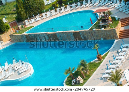Swimming pool on spa resort