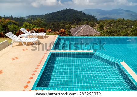 Swimming pool on top of mountains