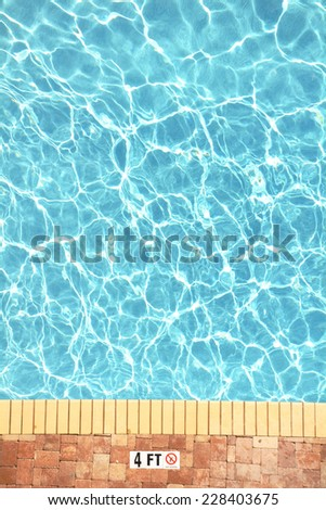 Swimming pool plenty of room for your text, perfect for cover art - stock photo