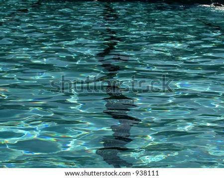 Swimming Pool Racing Lane close up - stock photo