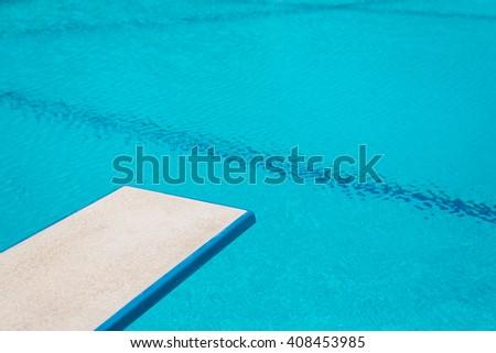 Swimming pool series : Springboard - stock photo
