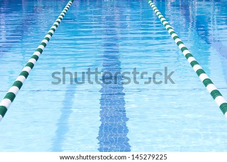 Swimming Pool Swim Lanes - stock photo