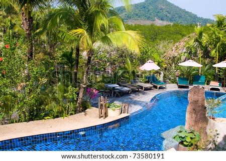 Swimming pool , Thailand - stock photo