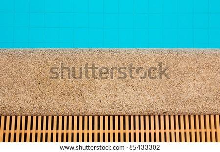 swimming pool, top view - stock photo