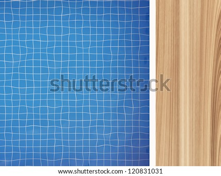 Swimming Pool Top View with place for your text - stock photo