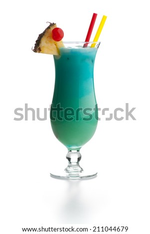 Swimming Pool - Turquoise cocktail with Reflection - stock photo