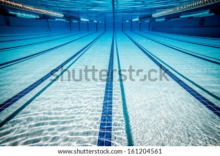 swimming pool under water ... - stock photo