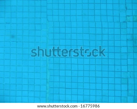 Swimming pool with mosaic floor