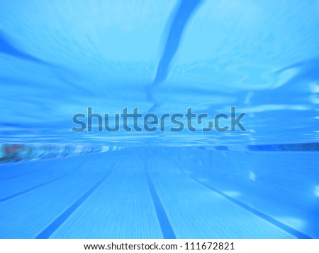 swimming pool zoom focus abstract - stock photo