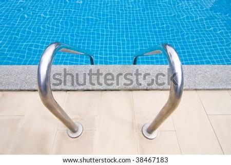 Swimmingpool Entry - stock photo